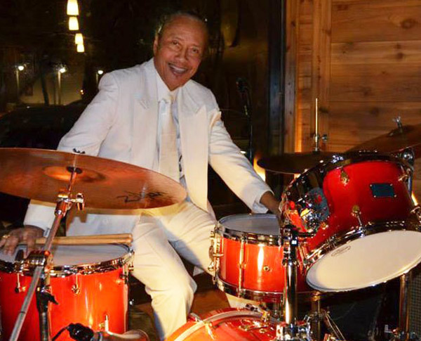 Jimmy Mayes playing drums