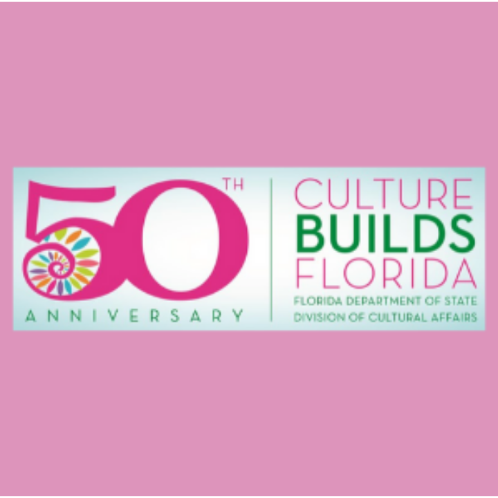 Florida Division of Cultural Affairs Logo and tagline Culture Builds Florida Celebrating 50 years
