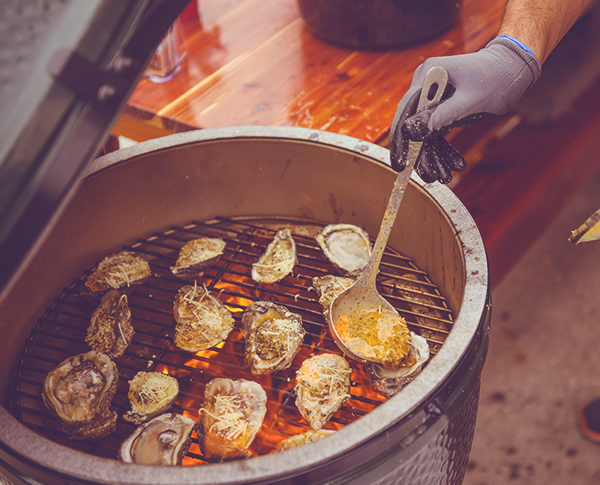 Pensacola EggFest returns in 2021. Pictured are grilled oysters on the Big Green Egg smoker.