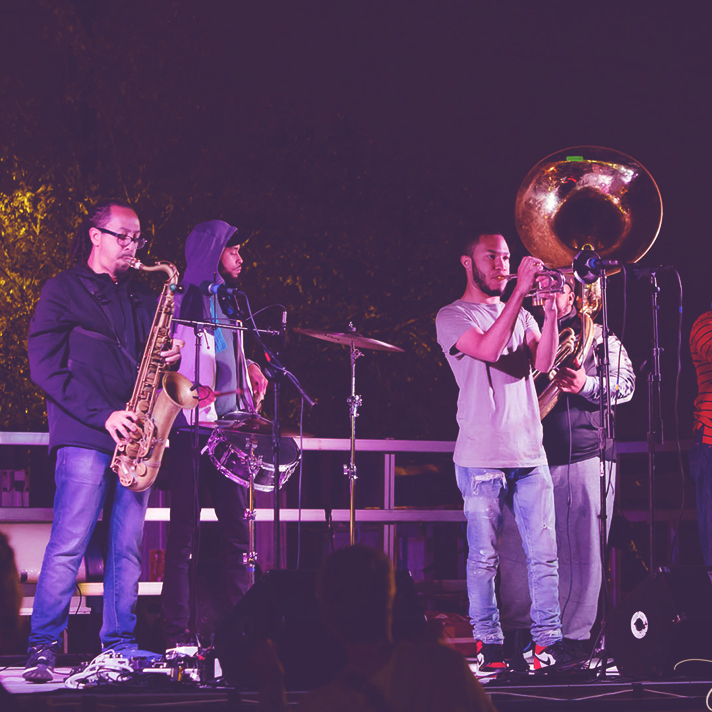 Jazz for Justice returns to Foo Foo Fest in 2021. Pictured are the rebirth brass band, performers from 2019.