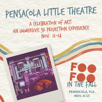 Pensacola Little Theatre presents a larger than life 3D projection celebration of art