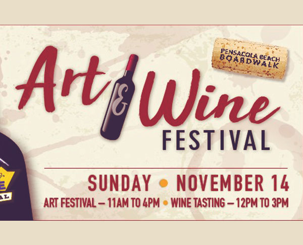 The Pensacola Beach Art & Wine festival at the Pensacola Boardwalk always provides a great time, great wine, and amazing art.