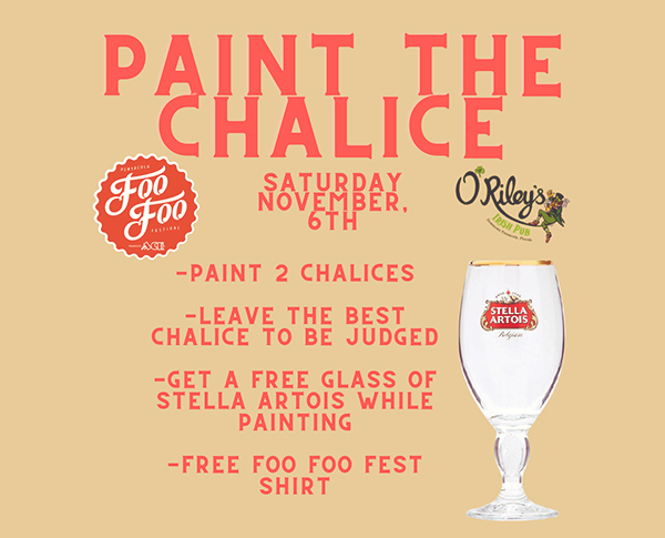 Paint the Stella Artois chalice at O'Riley's Irish Pub