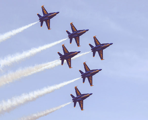 The US Navy Blue Angels homecoming airshow returns this November during Foo Foo Fest 2021