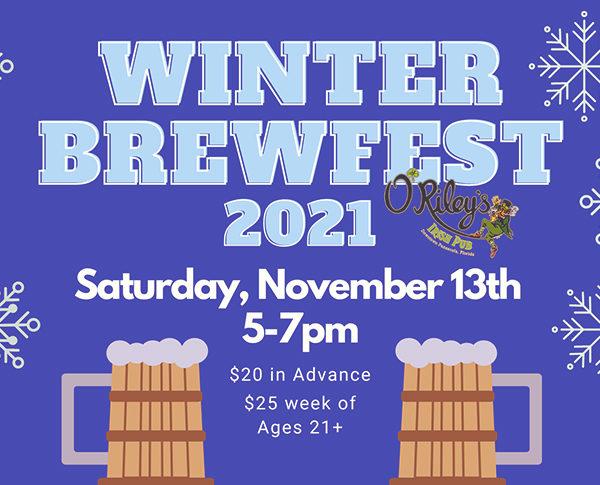 Winter Brewfest presented by O'riley's irish pub